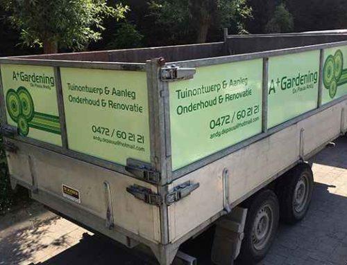A+ Gardening bestel- en aanhangwagen