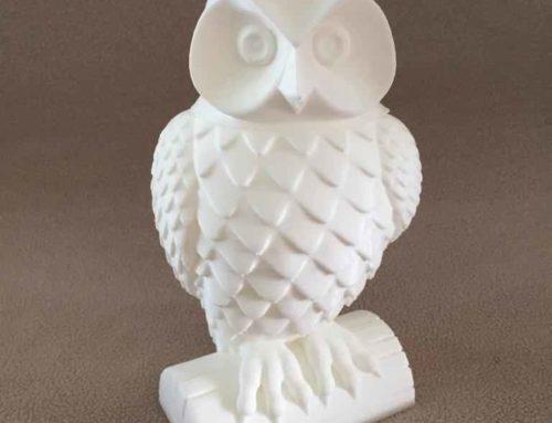 3D geprinte uil / urne